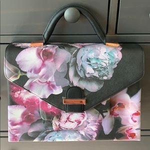 Ted Baker Floral Hand Bag w/ Shoulder Strap NWOT